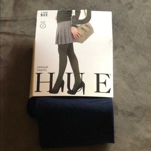 Hue Opaque Navy Tights